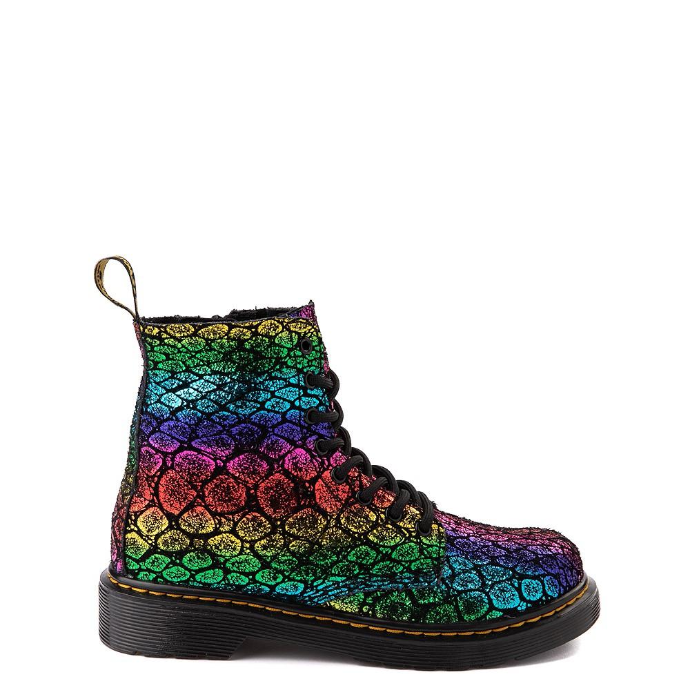 Dr. Martens 1460 Pascal Metallic 8-Eye Boot - Little Kid / Big Kid - Black / Rainbow