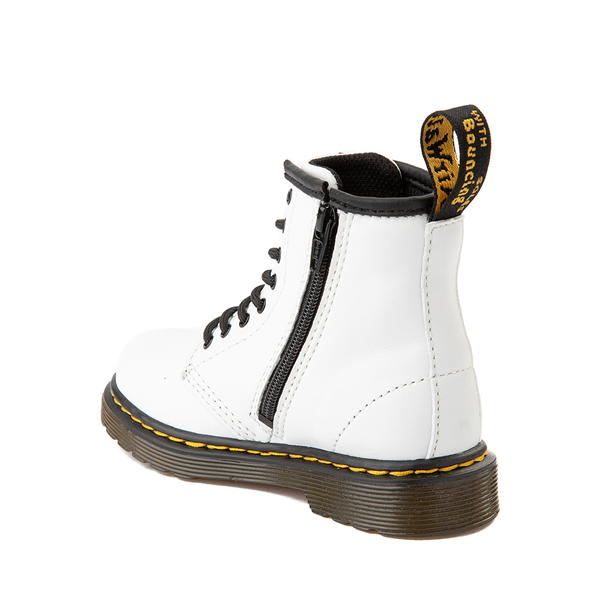 alternate view Dr. Martens 1460 8-Eye Boot - Toddler - WhiteALT1