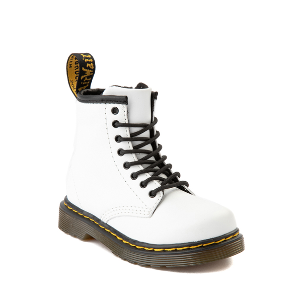 alternate view Dr. Martens 1460 8-Eye Boot - Toddler - WhiteALT5