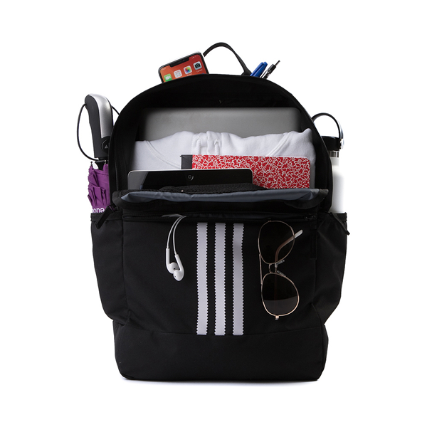 alternate view adidas Originals Stacked Trefoil Backpack - BlackALT1