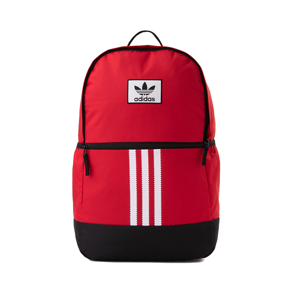 Main view of adidas Originals Stacked Trefoil Backpack - Scarlet