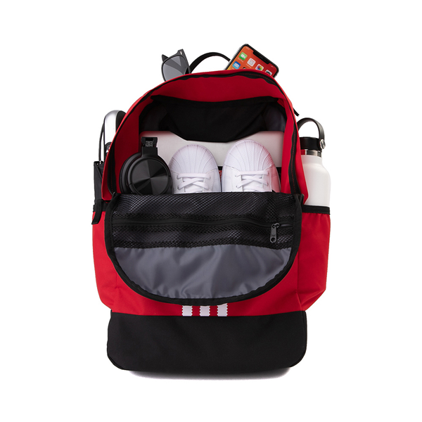 alternate view adidas Originals Stacked Trefoil Backpack - ScarletALT1