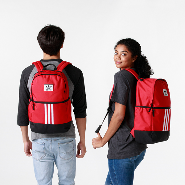 alternate view adidas Originals Stacked Trefoil Backpack - ScarletALT1BADULT