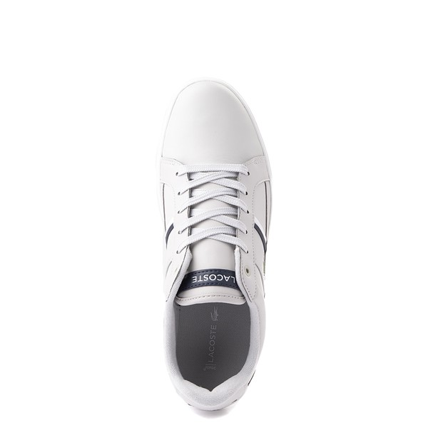 alternate view Mens Lacoste Europa Athletic Shoe - Light GrayALT2