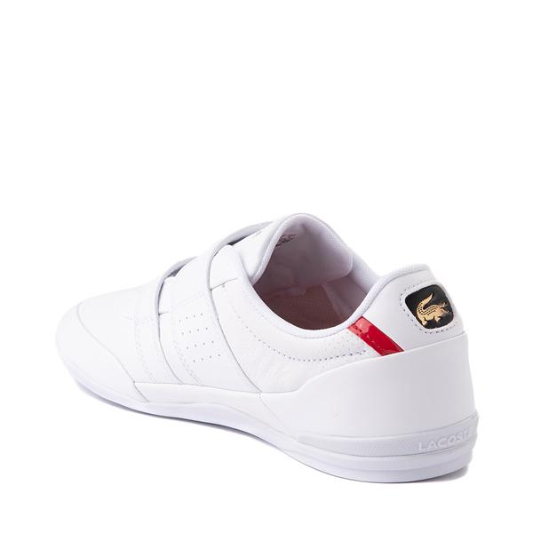 alternate view Mens Lacoste Misano Slip On Athletic Shoe - White / Navy / RedALT1
