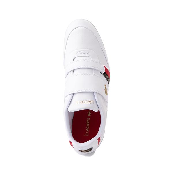alternate view Mens Lacoste Misano Slip On Athletic Shoe - White / Navy / RedALT2