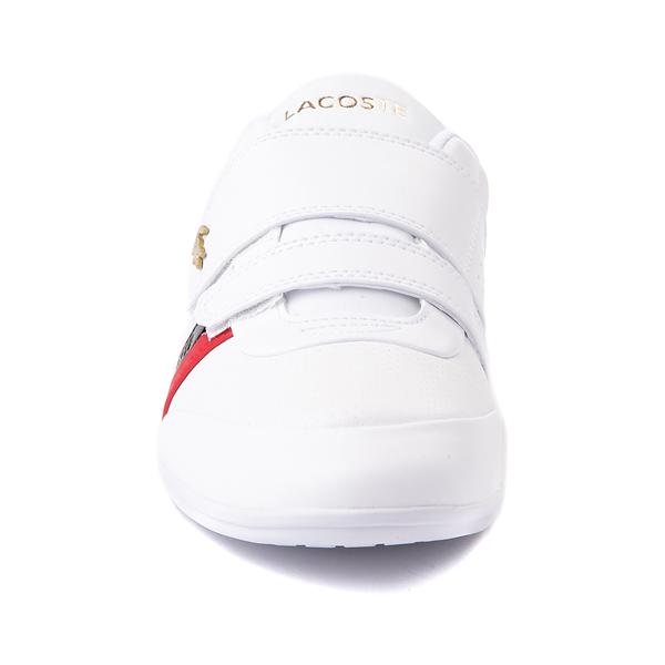 alternate view Mens Lacoste Misano Slip On Athletic Shoe - White / Navy / RedALT4