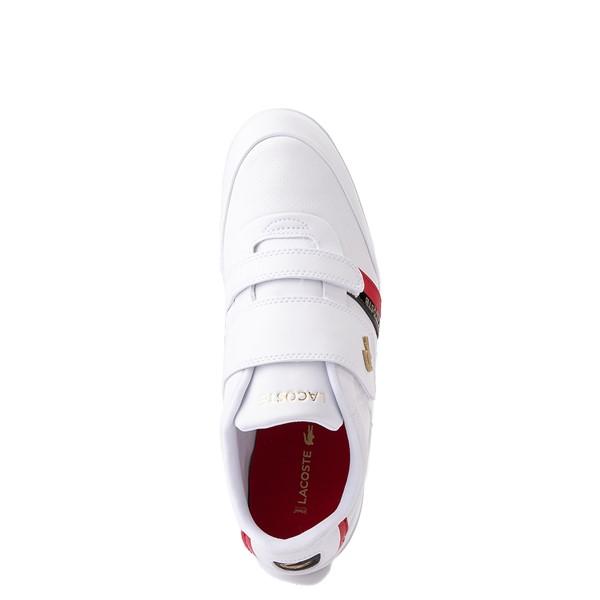 alternate view Mens Lacoste Misano Slip On Athletic Shoe - White / Navy / RedALT4B