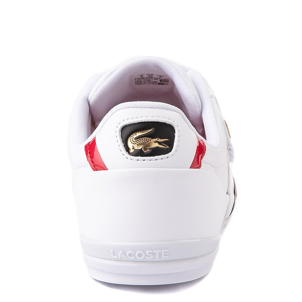 alternate view Mens Lacoste Misano Slip On Athletic Shoe - White / Navy / RedALT6
