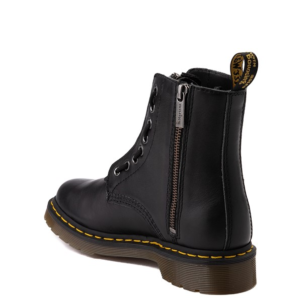 alternate view Womens Dr. Martens 1460 Pascal Zipper Boot - BlackALT1