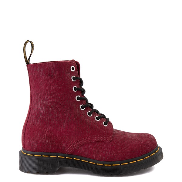 Main view of Womens Dr. Martens 1460 Pascal Glitter Ray 8-Eye Boot - Cherry