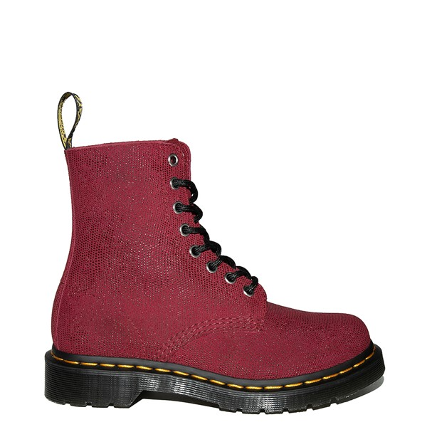 alternate view Womens Dr. Martens 1460 Pascal Glitter Ray 8-Eye Boot - CherryALT1