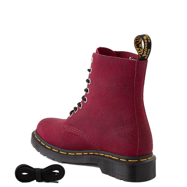 alternate view Womens Dr. Martens 1460 Pascal Glitter Ray 8-Eye Boot - CherryALT1B