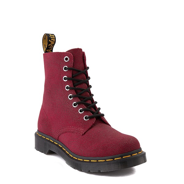 alternate view Womens Dr. Martens 1460 Pascal Glitter Ray 8-Eye Boot - CherryALT5