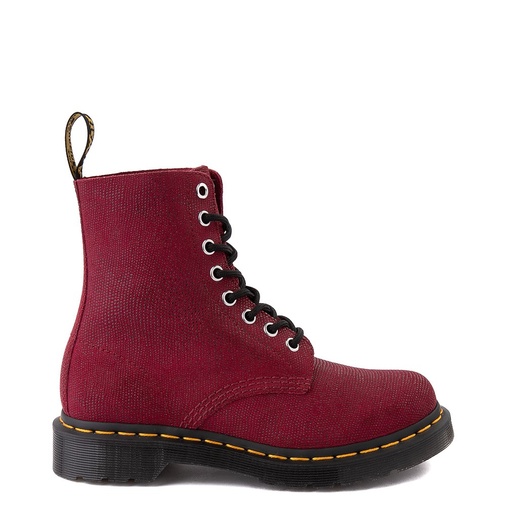 Womens Dr. Martens 1460 Pascal Glitter Ray 8-Eye Boot - Cherry