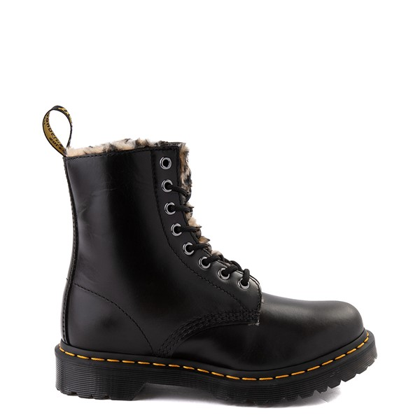 Main view of Womens Dr. Martens 1460 8-Eye Serena Boot - Black / Leopard