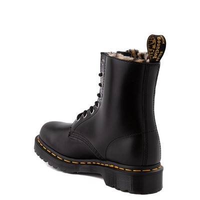 Alternate view of Womens Dr. Martens 1460 8-Eye Serena Boot - Black / Leopard