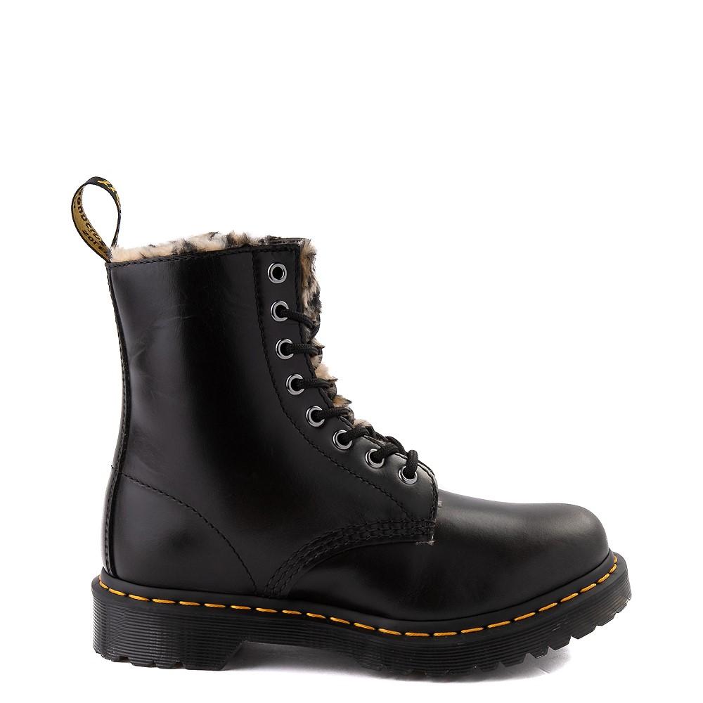 Womens Dr. Martens 1460 8-Eye Serena Boot - Black / Leopard
