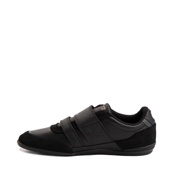 alternate view Mens Lacoste Misano Athletic Shoe - Black / GoldALT1