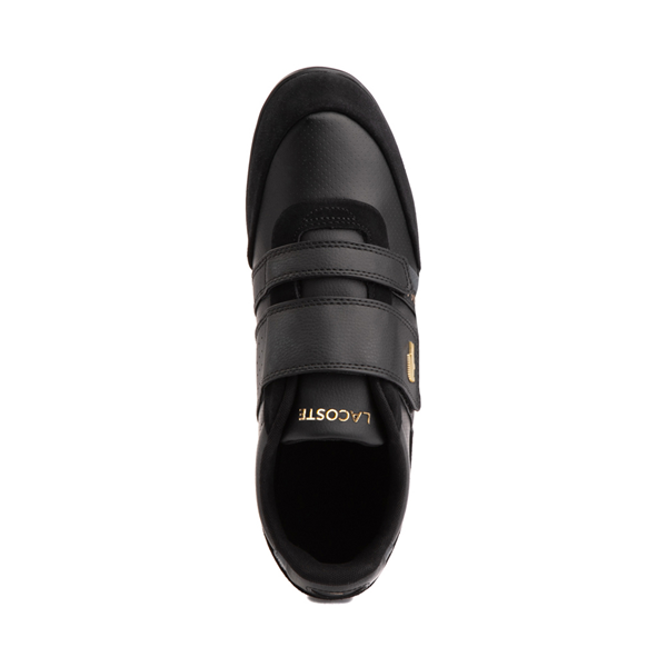alternate view Mens Lacoste Misano Athletic Shoe - Black / GoldALT2