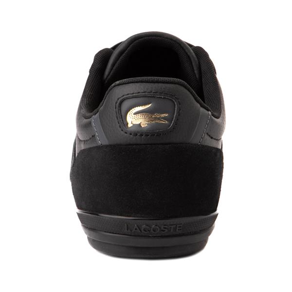 alternate view Mens Lacoste Misano Athletic Shoe - Black / GoldALT4