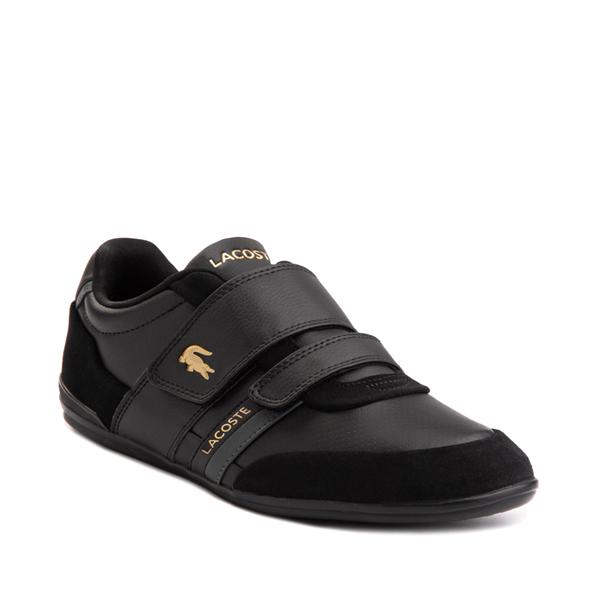 alternate view Mens Lacoste Misano Athletic Shoe - Black / GoldALT5