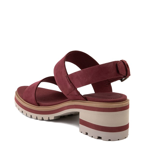 alternate view Womens Timberland Violet Marsh Sandal - BurgundyALT3-2