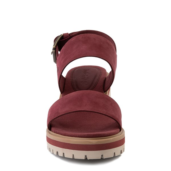 alternate view Womens Timberland Violet Marsh Sandal - BurgundyALT4