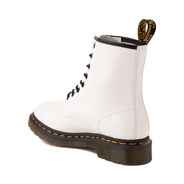 alternate view Womens Dr. Martens 1460 8-Eye Patent Boot - WhiteALT1