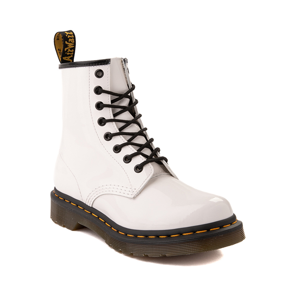 alternate view Womens Dr. Martens 1460 8-Eye Patent Boot - WhiteALT5