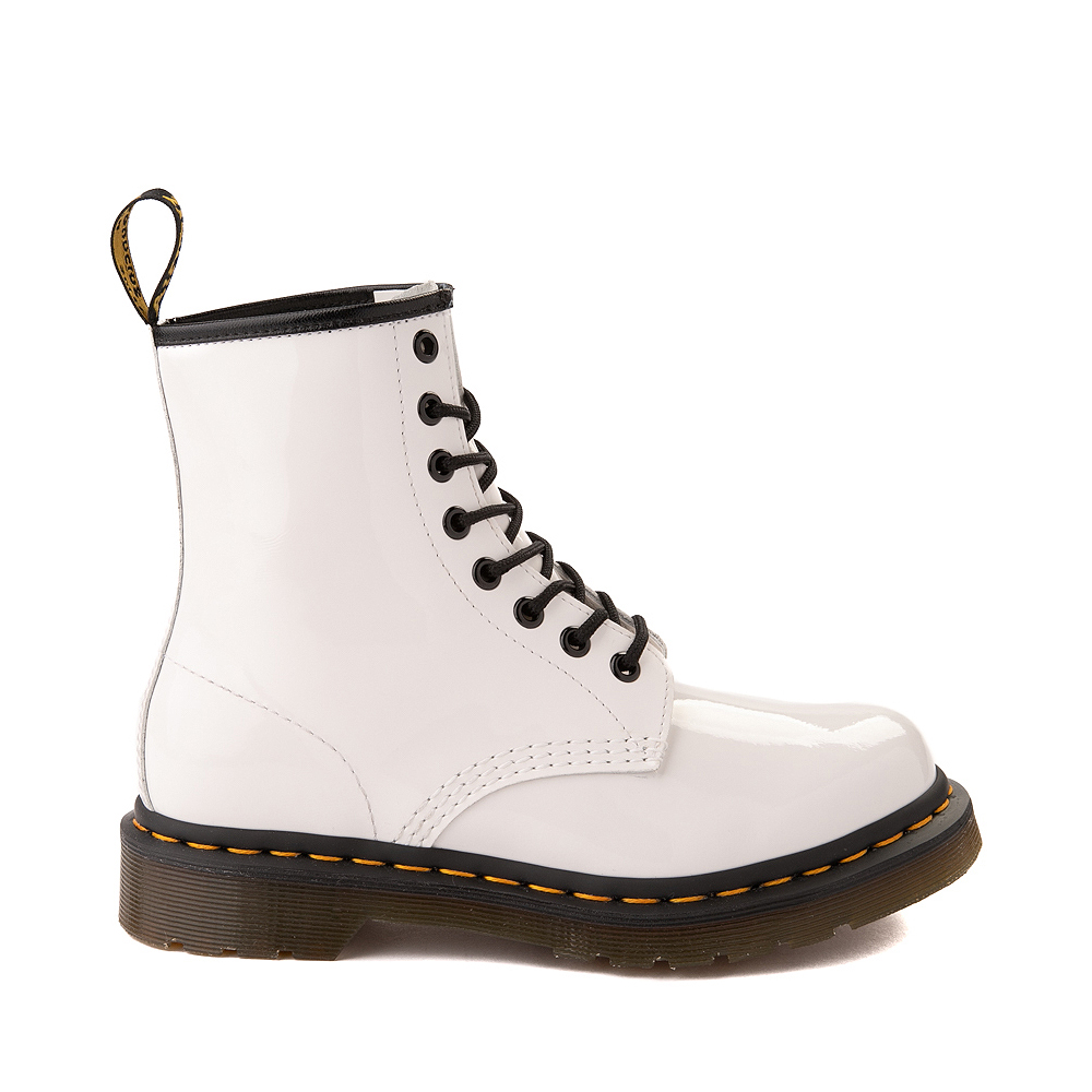 Womens Dr. Martens 1460 8-Eye Patent Boot - White