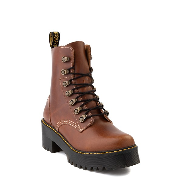 alternate view Womens Dr. Martens Leona Platform Boot - ButterscotchALT1
