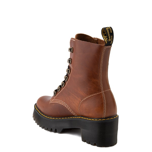 alternate view Womens Dr. Martens Leona Platform Boot - ButterscotchALT2