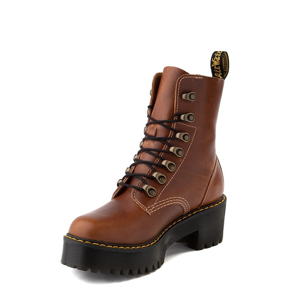 alternate view Womens Dr. Martens Leona Platform Boot - ButterscotchALT3