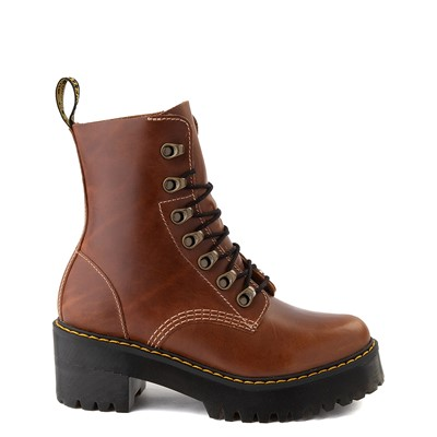 Main view of Womens Dr. Martens Leona Platform Boot - Butterscotch