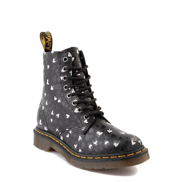 alternate view Womens Dr. Martens 1460 Pascal 8-Eye Wild Heart Boot - BlackALT1