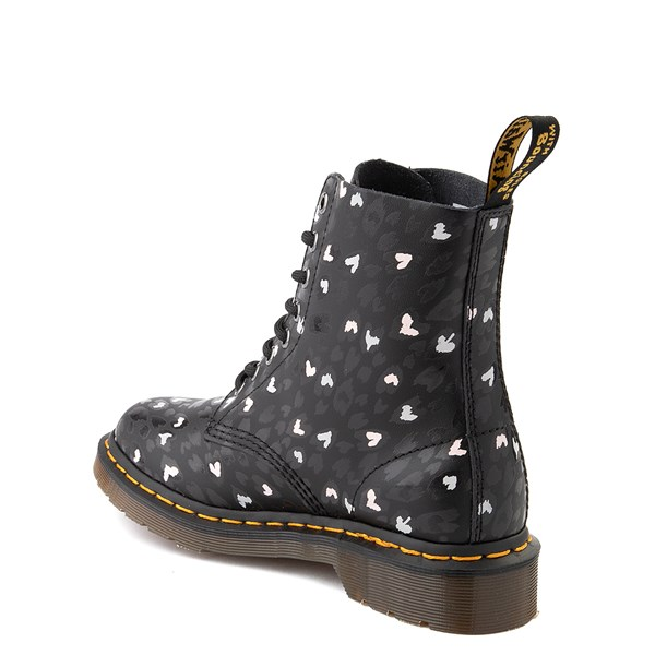 alternate view Womens Dr. Martens 1460 Pascal 8-Eye Wild Heart Boot - BlackALT2
