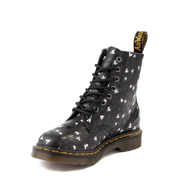alternate view Womens Dr. Martens 1460 Pascal 8-Eye Wild Heart Boot - BlackALT3
