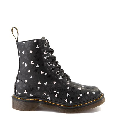 Main view of Womens Dr. Martens 1460 Pascal 8-Eye Wild Heart Boot - Black
