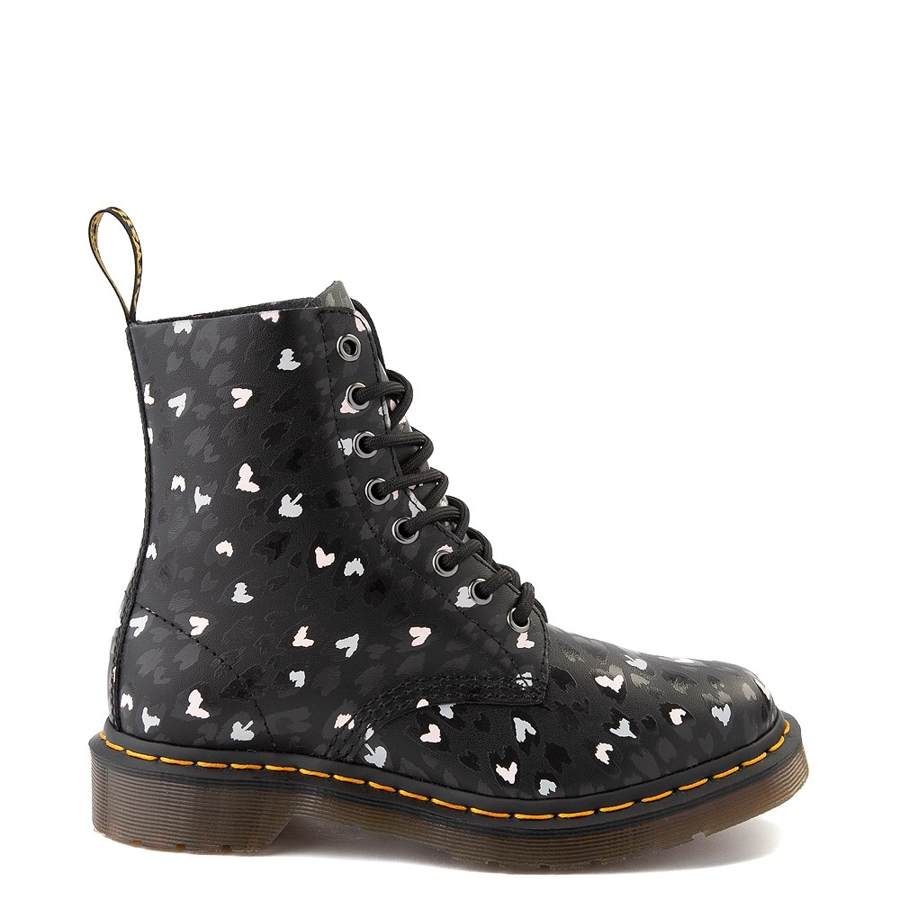 Womens Dr. Martens 1460 Pascal 8-Eye Wild Heart Boot - Black