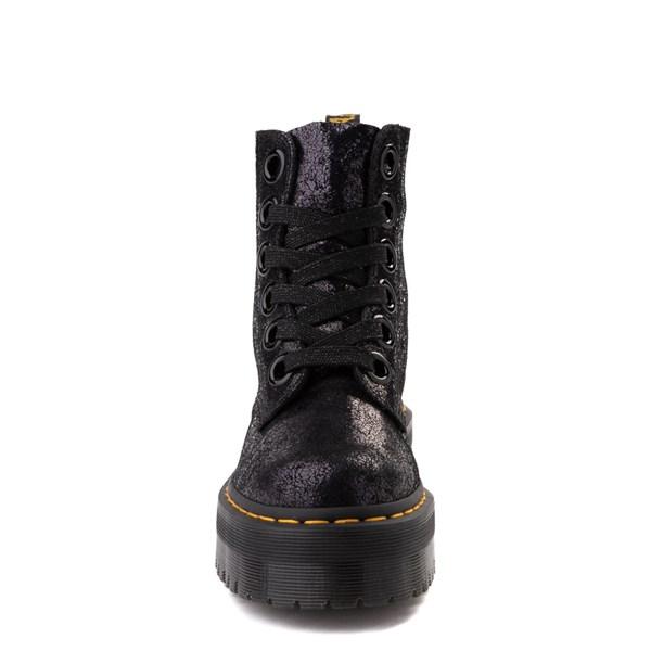 alternate view Womens Dr. Martens Molly Iridescent Crackle Boot - BlackALT4