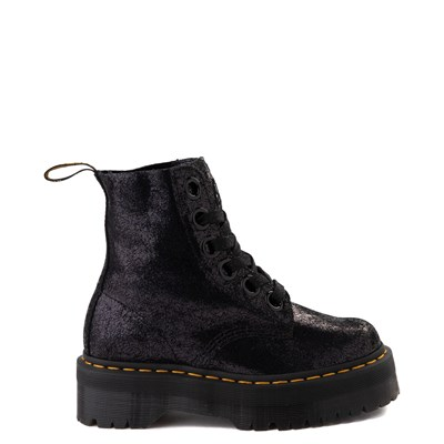 Main view of Womens Dr. Martens Molly Iridescent Crackle Boot - Black