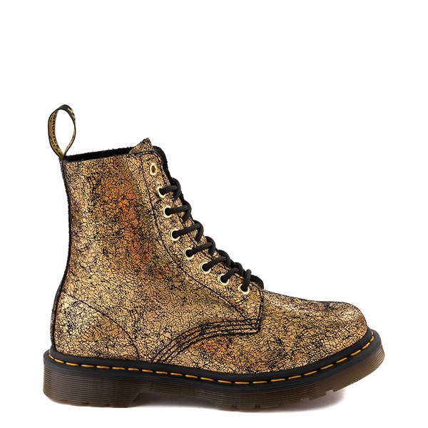 Womens Dr. Martens 1460 Pascal Iridescent Crackle 8-Eye Boot - Gold