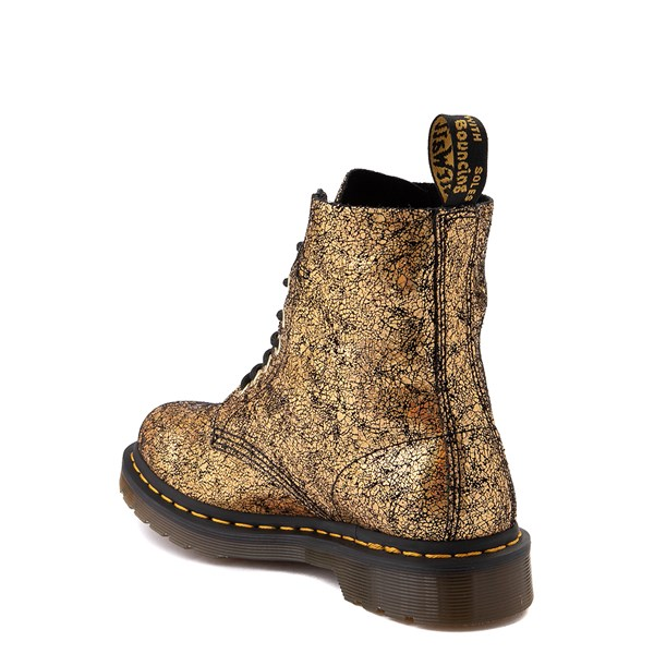 alternate view Womens Dr. Martens 1460 Pascal Iridescent Crackle 8-Eye Boot - BlackALT2