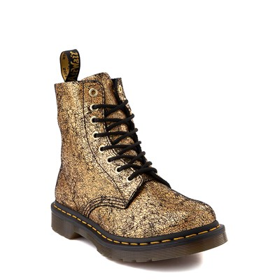 Alternate view of Womens Dr. Martens 1460 Pascal Iridescent Crackle 8-Eye Boot - Gold