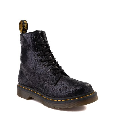Alternate view of Womens Dr. Martens 1460 Pascal Iridescent Crackle 8-Eye Boot - Black