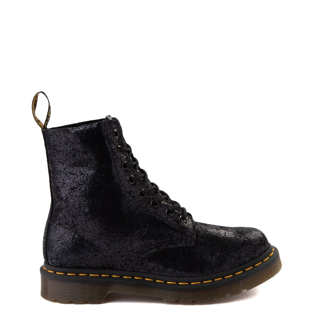 Womens Dr. Martens 1460 Pascal Iridescent Crackle 8-Eye Boot - Black