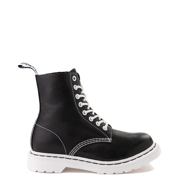 Womens Dr. Martens 1460 Pascal 8-Eye Boot - Black / White