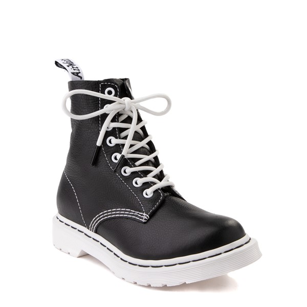alternate view Womens Dr. Martens 1460 Pascal 8-Eye Boot - Black / WhiteALT1