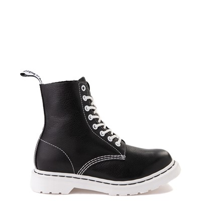 Main view of Womens Dr. Martens 1460 Pascal 8-Eye Boot - Black / White
